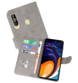 Bookstyle Wallet Cases Hoesje Samsung Galaxy A60 Grijs