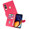 Bookstyle Wallet Cases Hoesje Samsung Galaxy A60 Roze