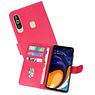 Samsung Galaxy A60 Hoesje Kaarthouder Book Case Telefoonhoesje Roze