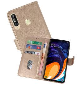 Samsung Galaxy A60 Hoesje Kaarthouder Book Case Telefoonhoesje Goud
