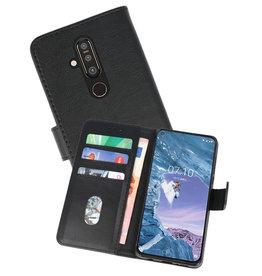 Nokia X71 Hoesje Kaarthouder Book Case Telefoonhoesje Zwart