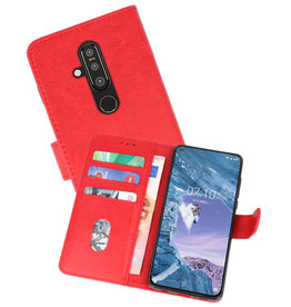 Bookstyle Wallet Cases Hoesje Nokia X71 Rood