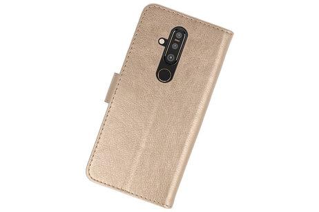 Bookstyle Wallet Cases Hoesje voor Nokia X71 Goud