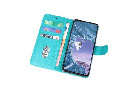 Bookstyle Wallet Cases Hoesje voor Nokia X71 Groen