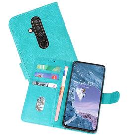Nokia X71 Hoesje Kaarthouder Book Case Telefoonhoesje Groen
