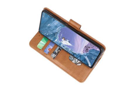 Bookstyle Wallet Cases Hoesje voor Nokia X71 Bruin