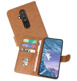 Nokia X71 Hoesje Kaarthouder Book Case Telefoonhoesje Bruin