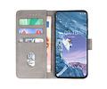 Bookstyle Wallet Cases Hoesje voor Nokia X71 Grijs