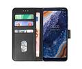Bookstyle Wallet Cases Hoesje voor Nokia 9 PureView Zwart