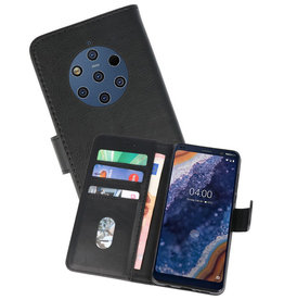 Bookstyle Wallet Cases Hoesje Nokia 9 PureView Zwart