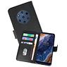 Nokia 9 PureView Hoesje Kaarthouder Book Case Telefoonhoesje Zwart