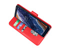 Bookstyle Wallet Cases Hoesje voor Nokia 9 PureView Rood