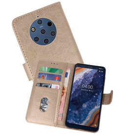 Bookstyle Wallet Cases Hoesje Nokia 9 PureView Goud