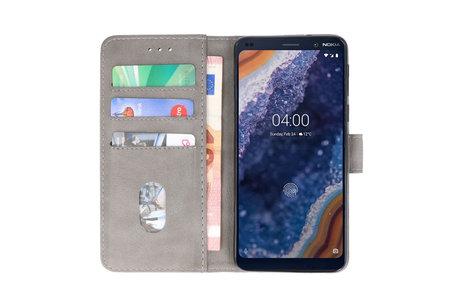 Bookstyle Wallet Cases Hoesje voor Nokia 9 PureView Grijs