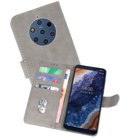 Bookstyle Wallet Cases Hoesje Nokia 9 PureView Grijs