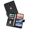 Nokia 3.2 Hoesje Kaarthouder Book Case Telefoonhoesje Zwart