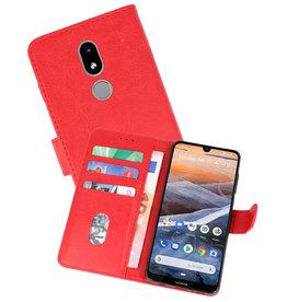 Nokia 3.2 Hoesje Kaarthouder Book Case Telefoonhoesje Rood