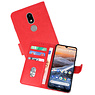 Bookstyle Wallet Cases Hoesje Nokia 3.2 Rood