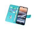 Bookstyle Wallet Cases Hoesje voor Nokia 3.2 Groen
