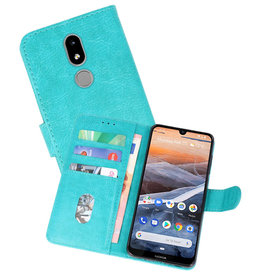Nokia 3.2 Hoesje Kaarthouder Book Case Telefoonhoesje Groen