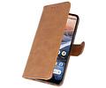 Bookstyle Wallet Cases Hoesje voor Nokia 3.2 Bruin