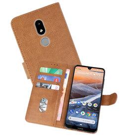 Nokia 3.2 Hoesje Kaarthouder Book Case Telefoonhoesje Bruin