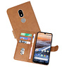 Bookstyle Wallet Cases Hoesje Nokia 3.2 Bruin