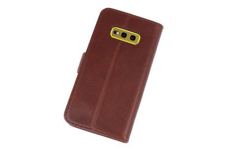 Rico Vitello Mocca Echt Leder Hoesje voor Samsung Galaxy S10e