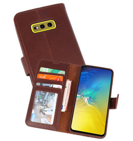 Rico Vitello Mocca Echt Leder Hoesje Samsung Galaxy S10e