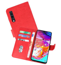 Bookstyle Wallet Cases Hoesje Samsung Galaxy A70 Rood