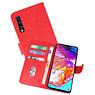 Samsung Galaxy A70 Hoesje Kaarthouder Book Case Telefoonhoesje Rood