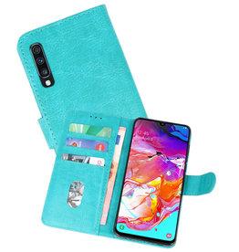Samsung Galaxy A70 Hoesje Kaarthouder Book Case Telefoonhoesje Groen