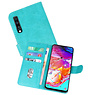 Bookstyle Wallet Cases Hoesje Samsung Galaxy A70 Groen