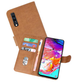Bookstyle Wallet Cases Hoesje Samsung Galaxy A70 Bruin