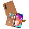 Samsung Galaxy A70 Hoesje Kaarthouder Book Case Telefoonhoesje Bruin