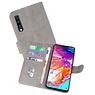 Samsung Galaxy A70 Hoesje Kaarthouder Book Case Telefoonhoesje Grijs