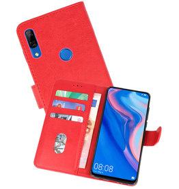 Huawei P Smart Z Hoesje Kaarthouder Book Case Telefoonhoesje Rood