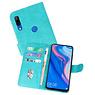 Huawei P Smart Z Hoesje Kaarthouder Book Case Telefoonhoesje Groen