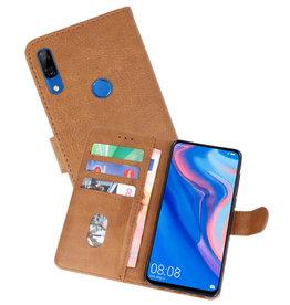 Huawei P Smart Z Hoesje Kaarthouder Book Case Telefoonhoesje Bruin