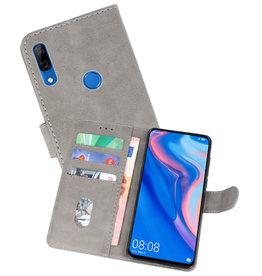 Huawei P Smart Z Hoesje Kaarthouder Book Case Telefoonhoesje Grijs