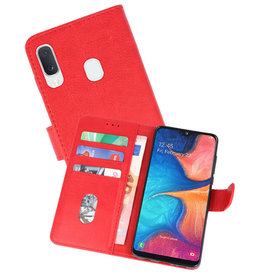 Bookstyle Wallet Cases Hoesje Samsung Galaxy A20e Rood
