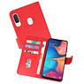 Samsung Galaxy A20e Hoesje Kaarthouder Book Case Telefoonhoesje Rood