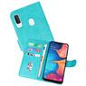 Samsung Galaxy A20e Hoesje Kaarthouder Book Case Telefoonhoesje Groen