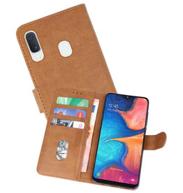 Bookstyle Wallet Cases Hoesje Samsung Galaxy A20e Bruin