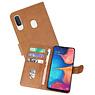 Samsung Galaxy A20e Hoesje Kaarthouder Book Case Telefoonhoesje Bruin