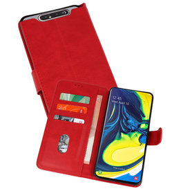 Bookstyle Wallet Cases Hoesje Samsung Galaxy A80 / A90 Rood