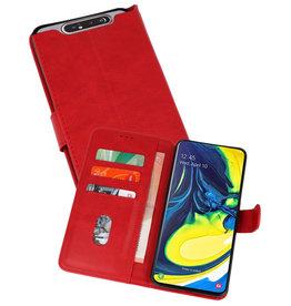 Samsung Galaxy A80 & Galaxy A90 Hoesje Kaarthouder Book Case Telefoonhoesje Rood