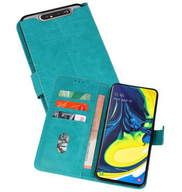 Bookstyle Wallet Cases Hoesje Samsung Galaxy A80 / A90 Groen