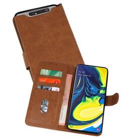 Samsung Galaxy A80 & Galaxy A90 Hoesje Kaarthouder Book Case Telefoonhoesje Bruin