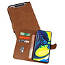 Bookstyle Wallet Cases Hoesje Samsung Galaxy A80 / A90 Bruin